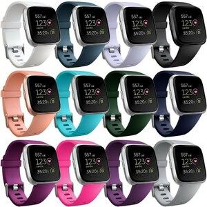 Image 1 - Coolaxy רצועת עבור Fitbit Versa להקת חכם שעון יד צמיד להקת עבור Fitbit Versa לייט רצועת סיליקון החלפת Fit קצת