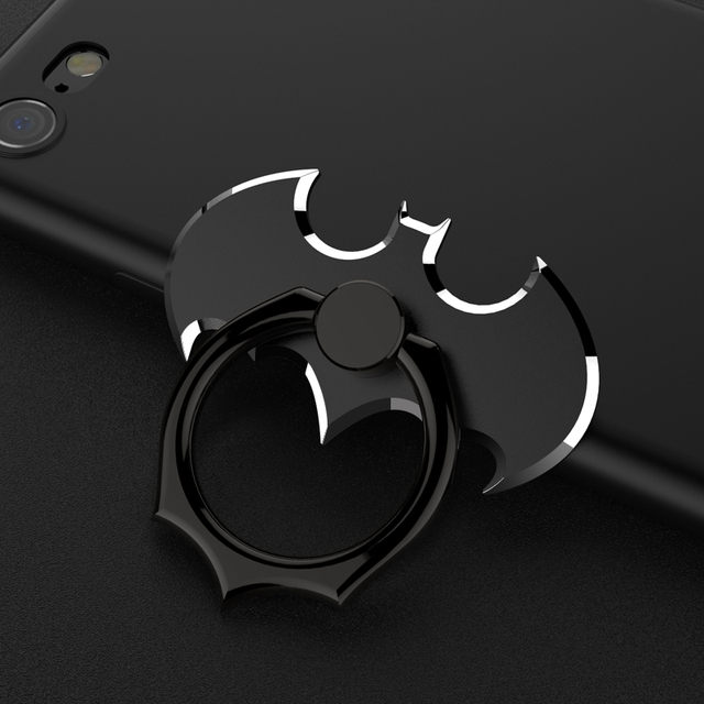 New Luxury Marvel Batman Aluminum Metal Universal Finger Ring Smartphone Cell Phone Hand Desk Stand Holder Repeated 360 Rotating