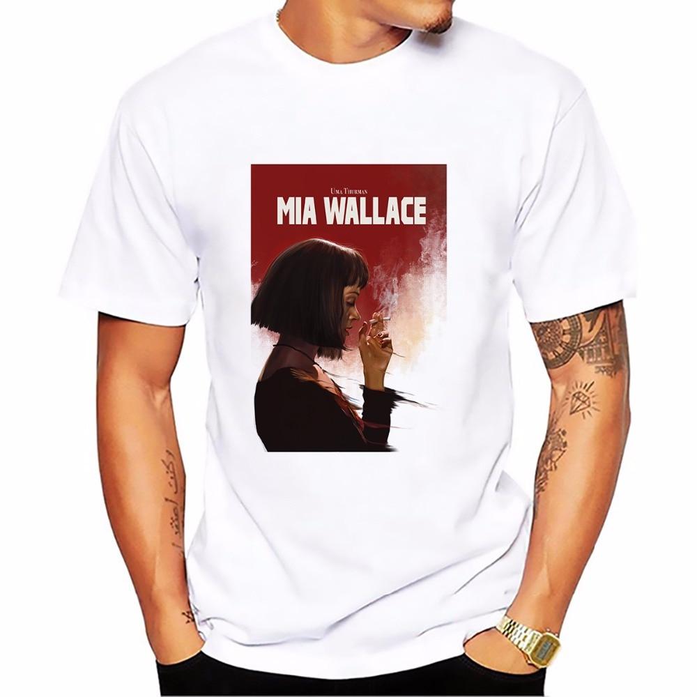 ficción de pulpa Mia Wallace camiseta HOMBRE nueva cómoda y transpirable camiseta informal homme de manga corta Talla jollypeach