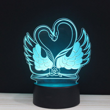 Valentine's Day colorful 3D Light  love gesture action touch lights LED RGB Valentine gift present Night lamp remote lighting 3d visual bulb optical illusion colorful led lamp touch romantic holiday night light love heart wedding valentine day gift