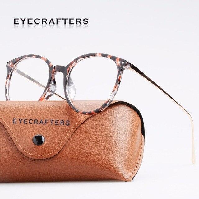 96f9193a9bc120 Eyecrafters Fashion Gold Metal Retro Womens Brillen Frame Heren Brillen  Frame Vintage Ronde Clear Lens Optische