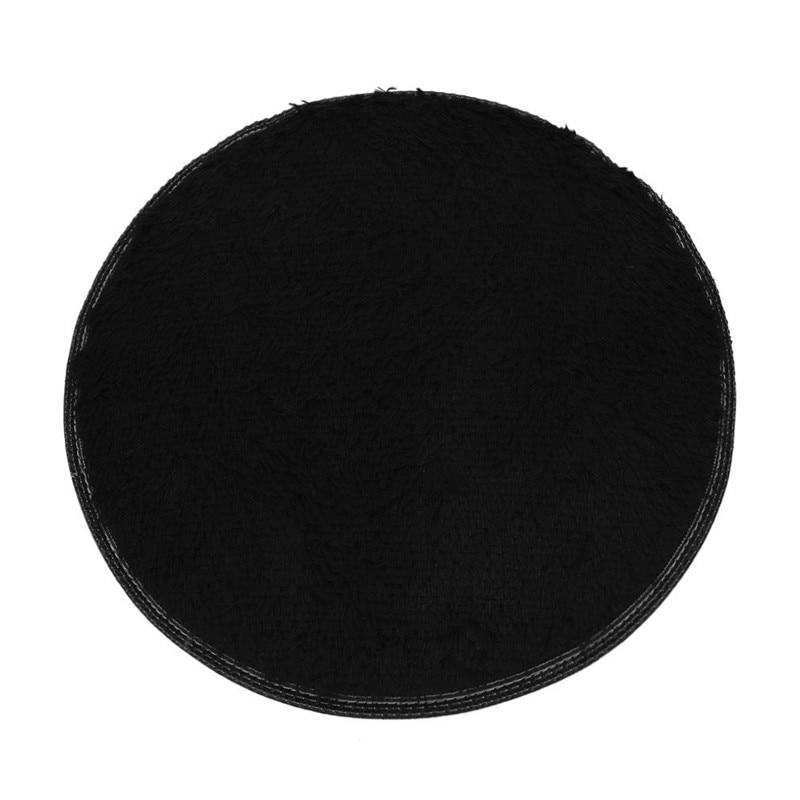 Size 40cm Fluffy Round Foam Rug Non Slip Shower Bedroom Mat, Door Floor Carpet,Round Plish Rugs and Carpets for toilet