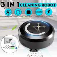 3 in 1 Smart Robot Vacuum Cleaner Automatic Sweeping Dust Cleaner Robotic Mop Sweeper 23x23x8cm ABS + Electronic Components