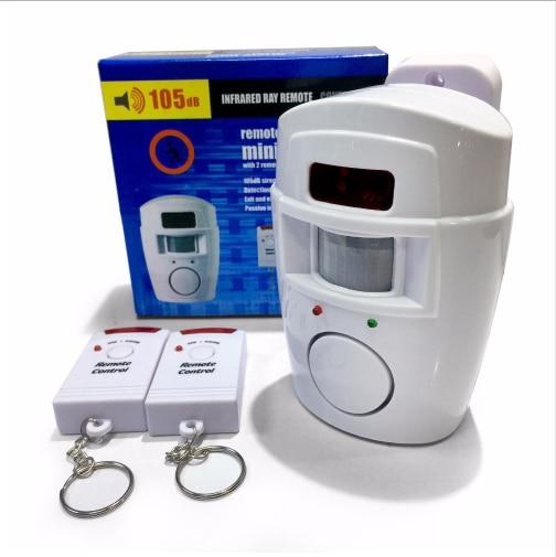 Free shipping Wireless PIR Motion Sensor Alarm with 2 Remote Controls Local Alarm Burglar with 105db Siren new motion plus sensor for nintendo for wii remote controller with silicone case free shipping