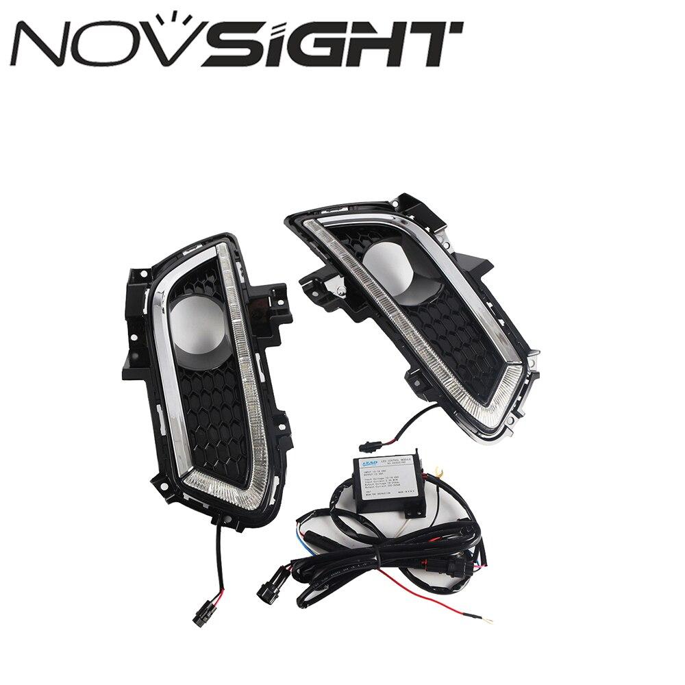 NOVSIGHT voiture LED conduite diurne feu antibrouillard adapté pour Ford Mondeo 2013-2016 jour lumière D20