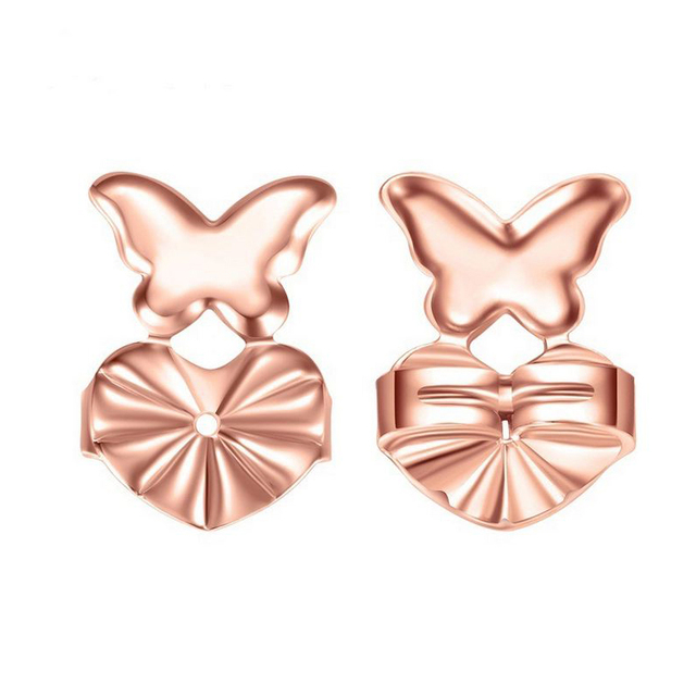 Earring Backs Support Lifts Hypoallergenic Fits All Post Earrings Findings Rose Gold