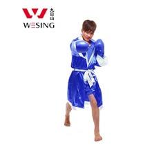 Wesing боксерские халаты Для мужчин Муай Тай плащ кикбоксинг форма стиль плюс Размеры 2XL