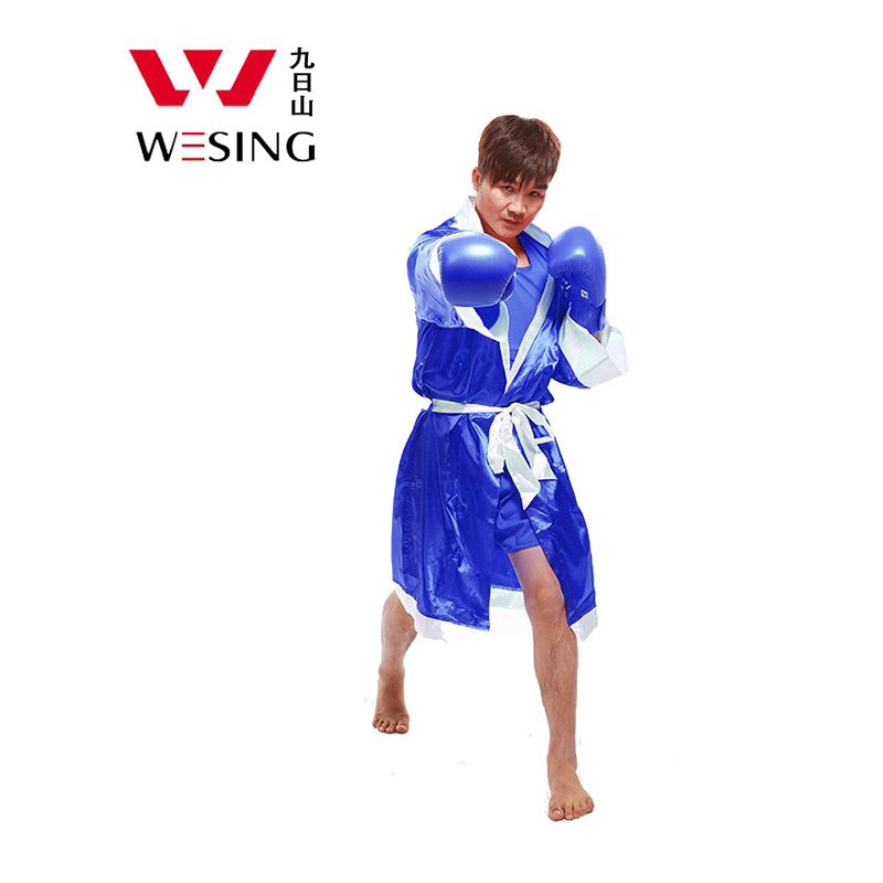 Wesing Boxing Robes Men Muay Thai Cloak Kickboxing Uniforms New Style PLus Size 2XL