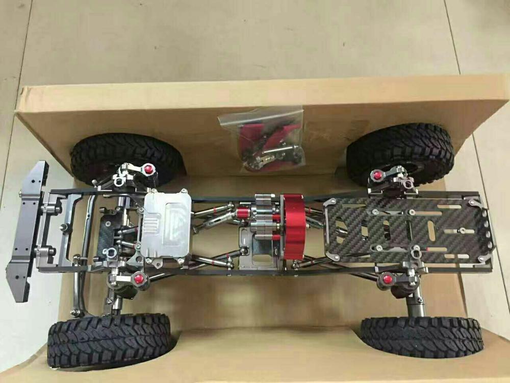 New 1 10 Axial SCX10 Upgrade Option Parts metal car frame set