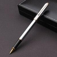 High-end Hero 704 Zilver Roller Black Inkt 0.5mm Handtekening pennen met Een Doos De Beste Gift Schrijven Briefpapier voor Student