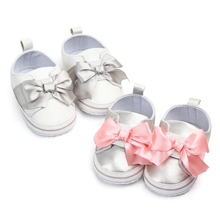 PU Baby Girls Shoes Newborn autumn Cotton Soft Baby Shoes Bow Baby sho