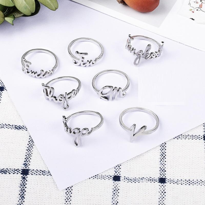 KPOP JIN JIMIN RM SUGA V JUNGKOOK J-HOPE Album Ring Jewelry Rings Accessories Boy Girl Same Name Rings Wholesale New(China)