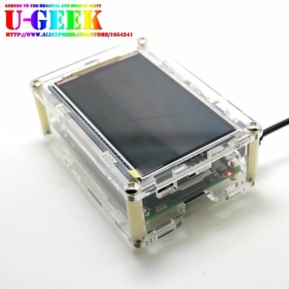 UGEEK Raspberry Pi Acrylic Case/Shell/Case/Enclosure For 3.5 Inch 800*480 HD Screen Raspberry Pi 3B 2B B+ 3B+