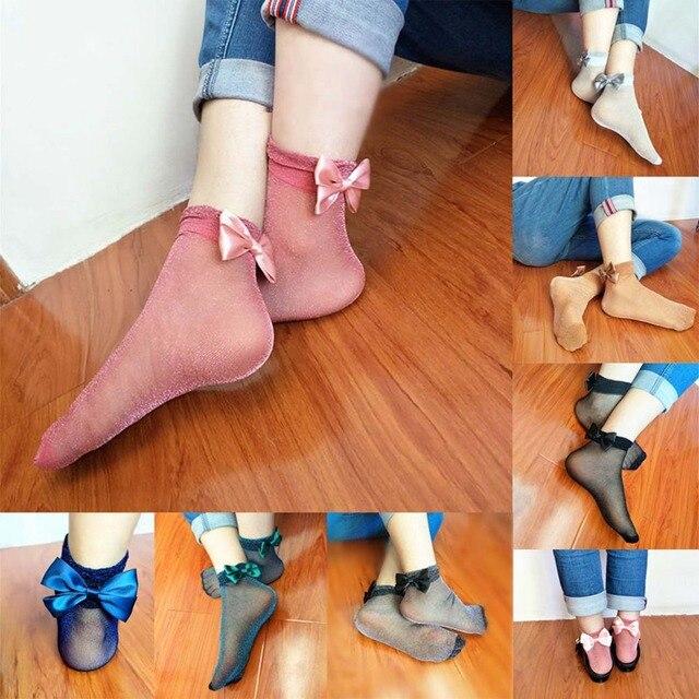 Bow Tie Cute Glitter Bow Knot Socks 3