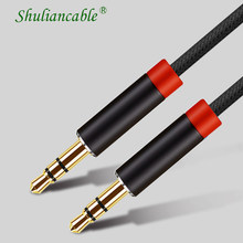 Shuliancable przewód Aux 3.5mm kabel Audio, 3.5 Mm Jack męski na męski kabel Audio do samochodu słuchawki Stereo kabel głośnikowy Aux przewód(China)