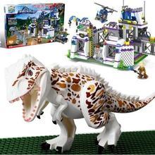Фотография TS8000 Violent Brutal Dinosaur Indominus Rex Breako Jurassic Dinosaur World 826pcs Bricks Building Block Toys Gift For Children