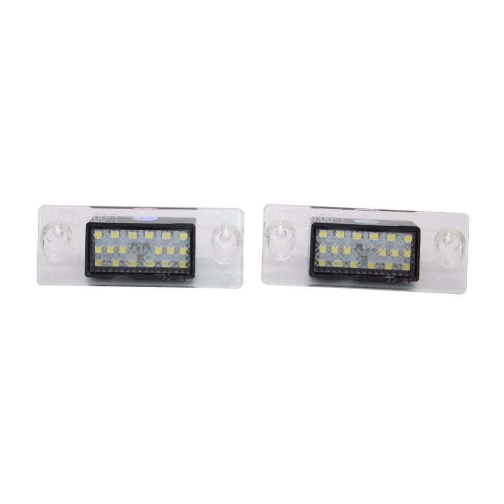 Number Plate Light Lamps for <font><b>Audi</b></font> <font><b>A4</b></font> S4 <font><b>B5</b></font> 1998-2001 Error Free 18 LED License Auto Bulb Auto Car Accessories image