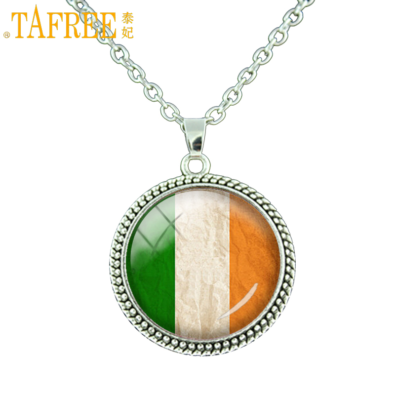 Chain Necklaces Audacious Tafree Handcrafted Jewelry Irish Flag Glass Dome Pendant Vintage Choker Ireland Bijuterias On Aliexpress Chain Necklace N032 Buy One Get One Free