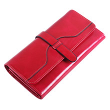 Brand Design Women Wallets High Quality Genuine Leather Hasp Wallet Card Holder Long Lady Wallet Purse