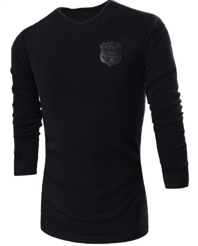 Men s Sweaters 2017 new winter menswear Slim V neck sweater Men s Fashion Pullover