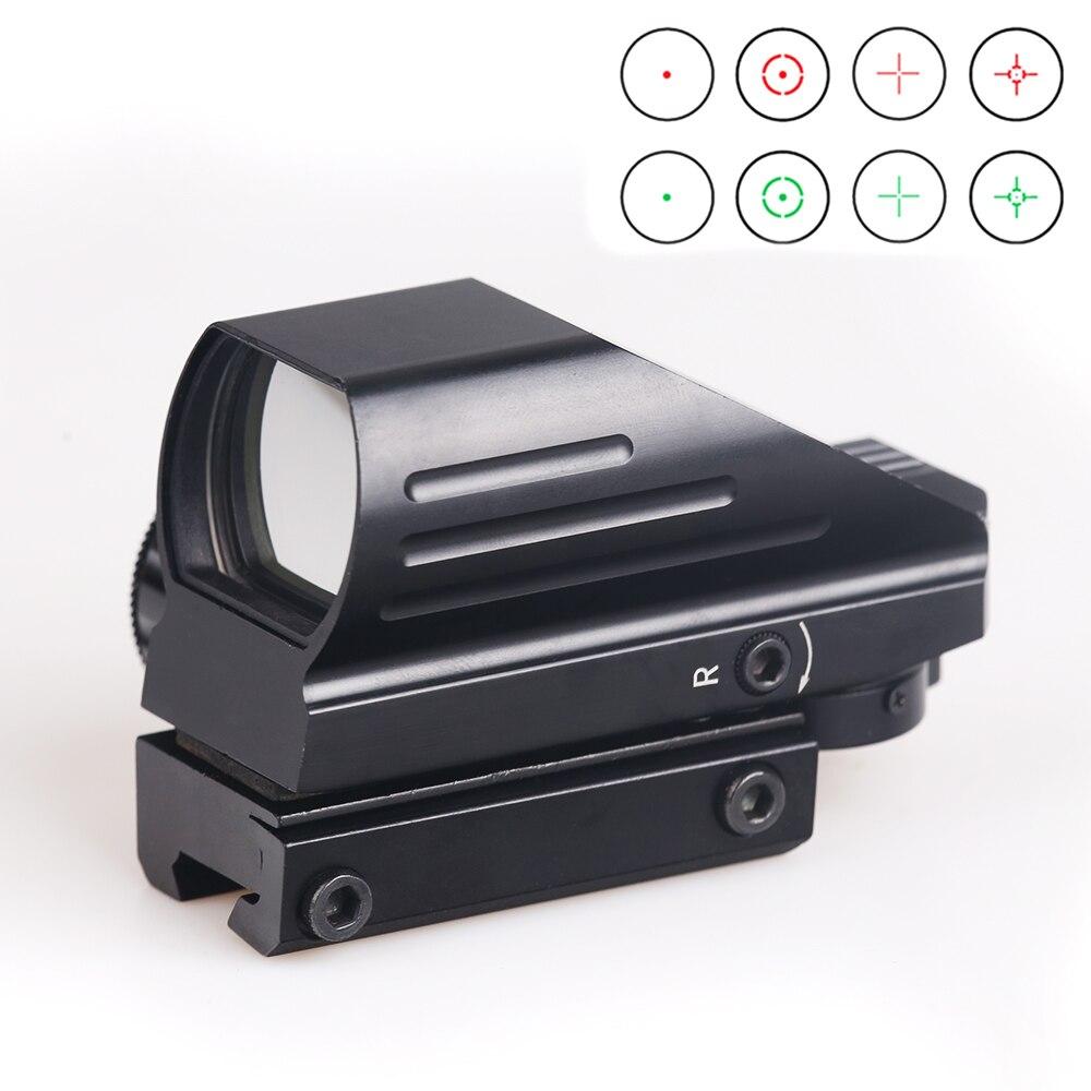 BIJIA Tactical Reflex Rosso/Laser Verde 4 Reticolo Olografico Proiettata Dot Sight Scope Airgun sight Caccia 11mm/20mm Rail Mount