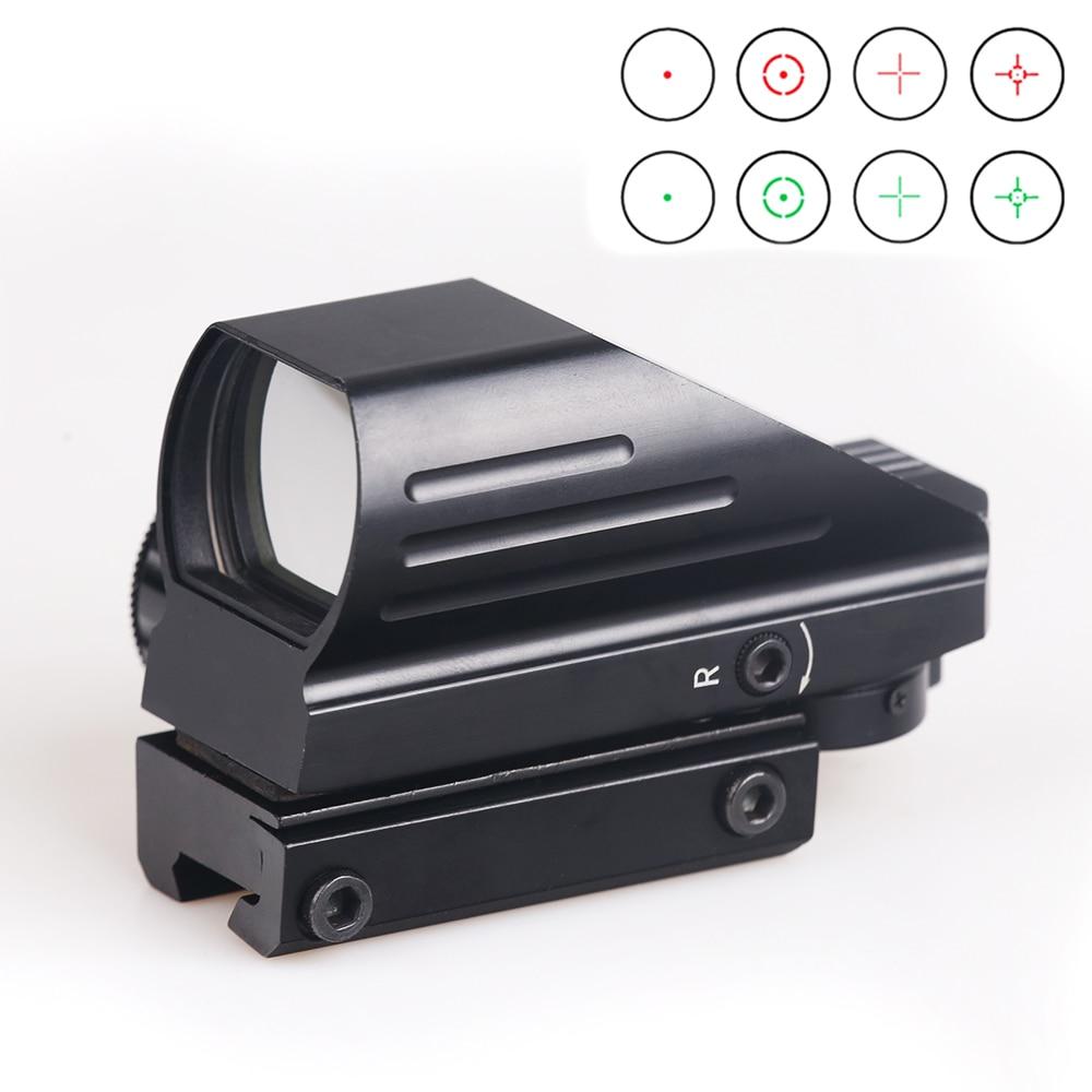 BIJIA Taktische Reflex Rot/Grün Laser 4 Absehen Holographische Projiziert Dot Anblick-bereich Luftgewehr sight Jagd 11mm/20mm Schiene Montieren