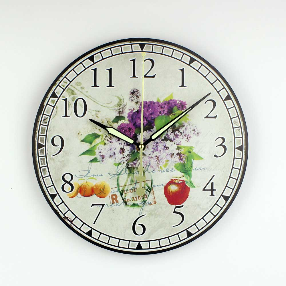 Mediterranean style kitchen wall clock with waterproof clock face mediterranean style kitchen wall clock with waterproof clock face beautiful home decoration mute quartz watch wall clock gift in wall clocks from home amipublicfo Choice Image