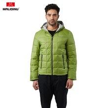 MALIDINU 2020 Men Winter Jacket Cotton Padded Coat Brand Padding Jacket Hooded Mens Coats Fashion Russian Jacket Men Green Coat authentic nike men s kobe blazer sport knit breathable jacket hooded coat grey green