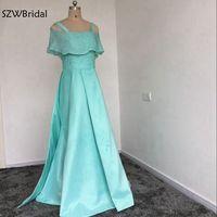 Новое поступление Кафтан Вечернее платье 2019 полное ручное Бисероплетение трапециевидные вечерние платья в арабском стиле Небесно голубое