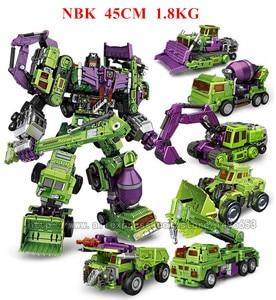 Image 4 - JINBAO NBK حجم كبير 6 في 1 دمر التحول اللعب صبي سيارة روبوت KO G1 حفارة الشاحنات نموذج عمل الشكل لعبة طفل الكبار