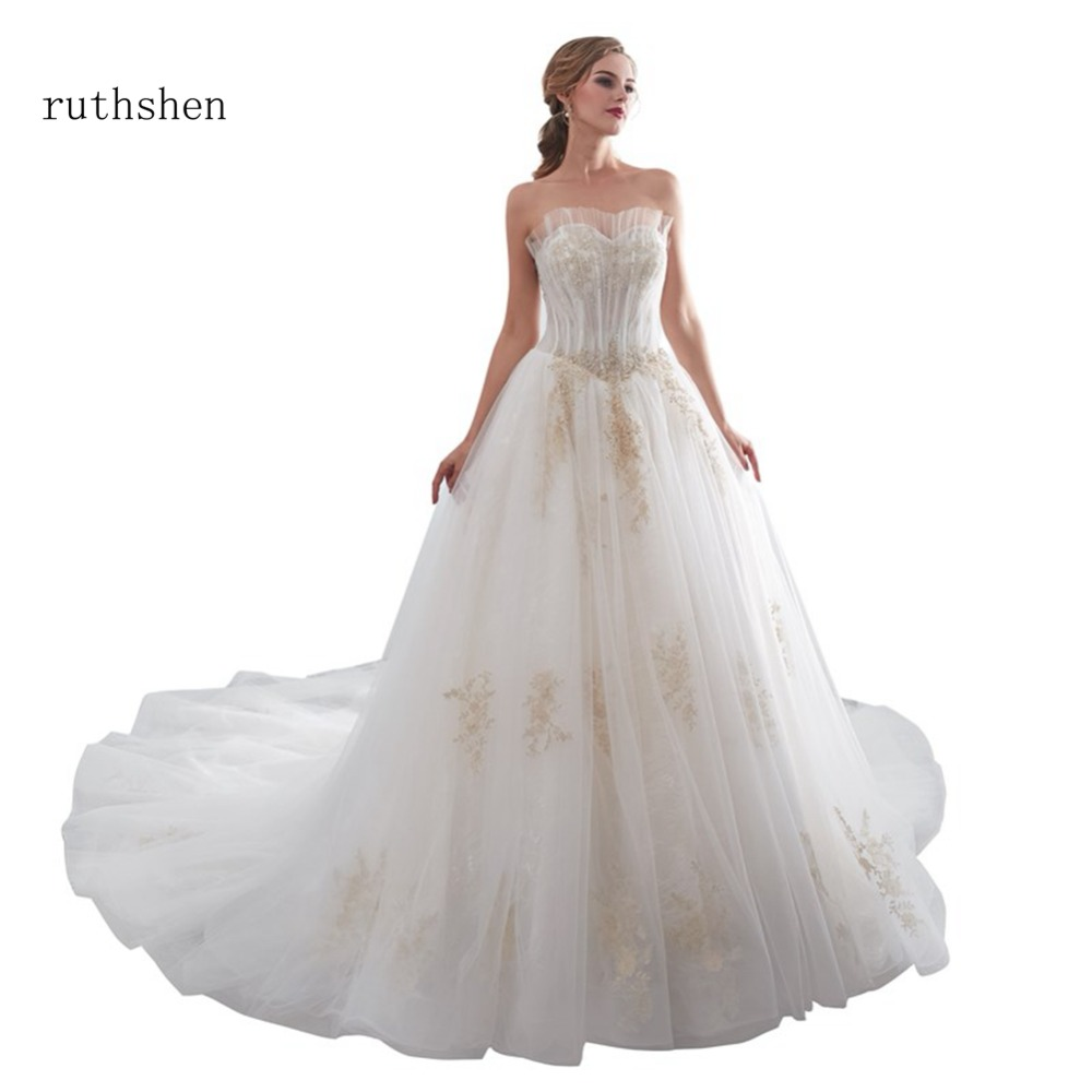ruthshen Luxury Wedding Dresses 2018 Lace Off The Shoulder Wedding Gown  With Short Sleeves Lace Up Back Mermaid Bridal ... 66fcac141c16