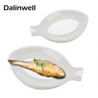 1PC Creative White Melamine Divided Flavor Sushi Dish Non Toxic Tasteless Irregular Shaped Catering Shell Dinner