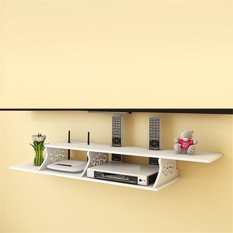 Tenture murale WIFI collection créative multifonctionnel sans fil étagère TV set-top piles boîte de rangement armoire cintre douille couverture