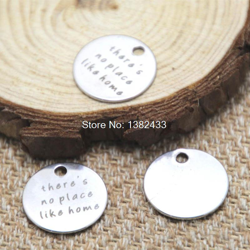 10pcs there's no place like home Charms silver tone message charm pendant 20mm
