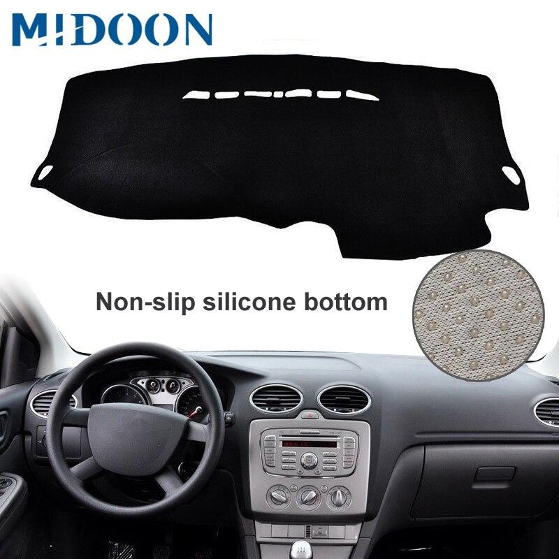 MIDOON  Fit For Ford Focus 2 MK2 LHD 2005-2007 2008 2009 2010 2011 Dashboard Cover Dashmat Dash Mat Pad Sun Shade Dash Board Cov