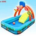 Надувной баскетбольный мяч с горкой и водным распылителем  детский бассейн  детский бассейн для гребли  парк атракций G2056
