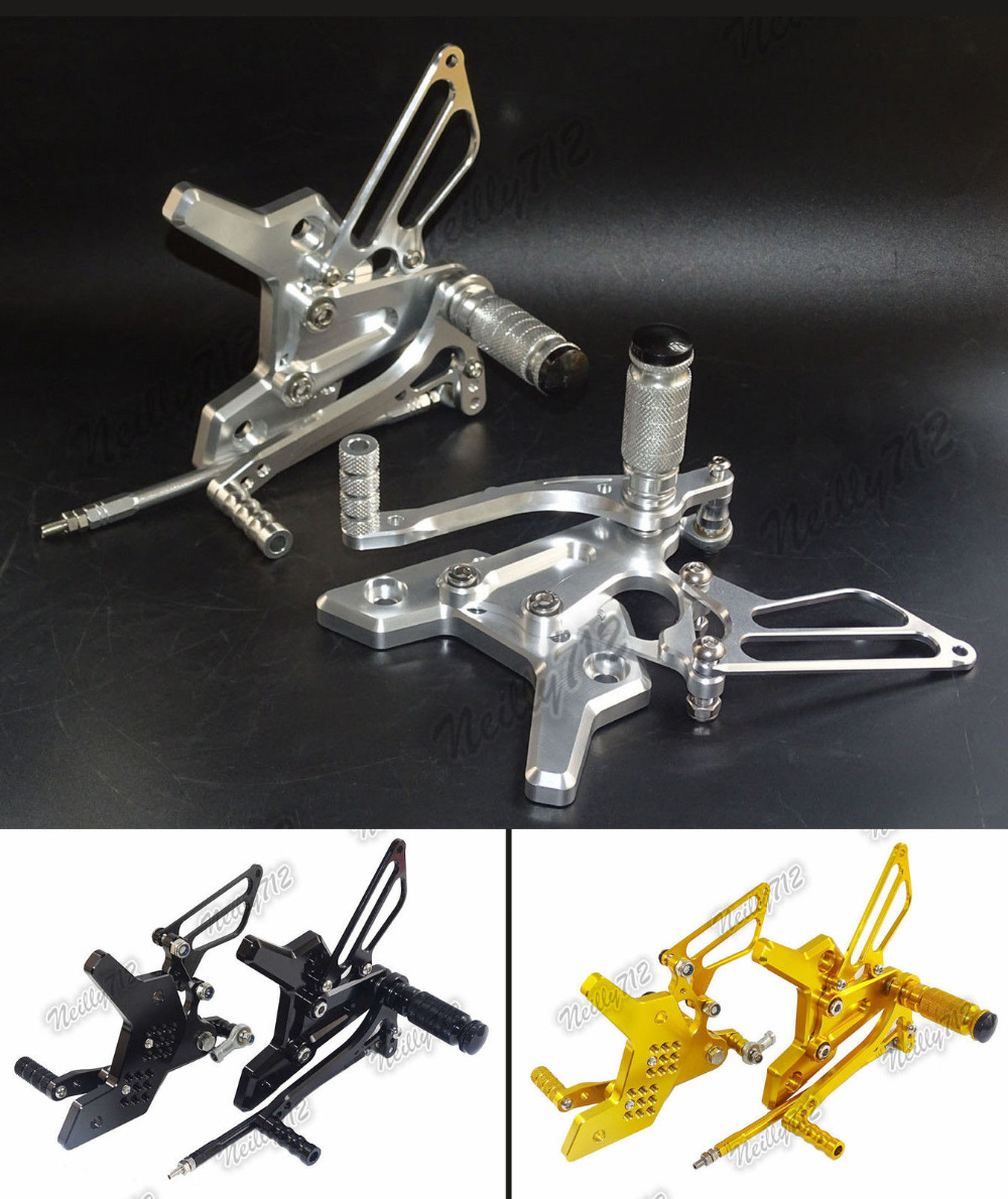 Motorcycle MOTO CNC Aluminium Adjustable Rider Rear Sets Rearset Footrest Foot Rest Pegs For KAWASAKI Z750 Z750S 2004 2005 2006 motorcycle adjustable rider rear sets rearset fold foot rest pegs for honda cbr1000rr cbr 1000 rr 2004 2005 2006 2007