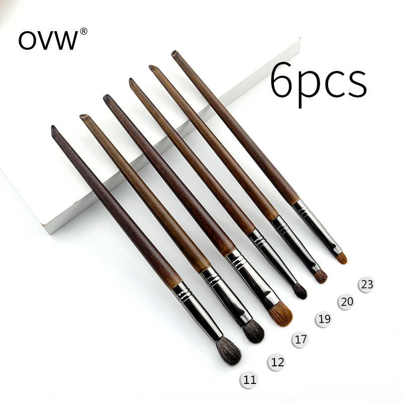 OVW Profesional Makeup Brush Set Point Shader Kecil Blending Sikat Pinceaux Maquillage Yeux Menjejalkan Merias Zestawy