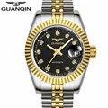 Мужские часы GUANQIN  брендовые водонепроницаемые автоматические механические часы  мужские золотые часы с вырезами  бриллианты  роскошные бр...