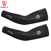 WHEEL UP silk Cycling Arm Sleeves Breathable Quick-dry Summer Bicycle Oversleeve Cover UV Protection Men Women Ice Cool