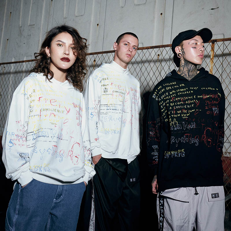 Harajuku Graffiti Hoodie Sweat Hommes Hip Hop Pull Hoodies Streetwear Casual Mode Vêtements Hippie Automne 2018 Coton - 4