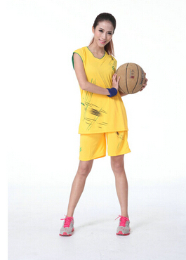 5599addb6 P0476 lover design basketball jersey set basketball suit female women girl  baskeetball jersey set black blue yellow-in Basketball Jerseys from Sports  ...