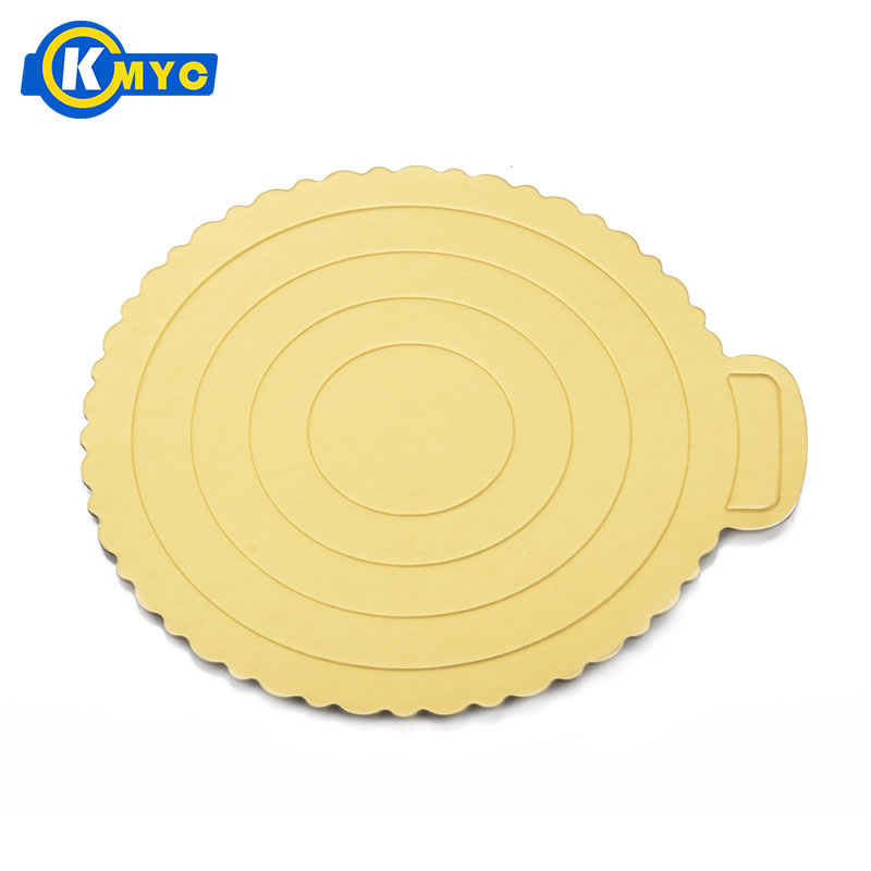 KMYC Round Shape Cake Stand Board Waterproof and Oil Proof Wedding Cake Holder Stand Baking Supplies Kitchen Dining&Bar