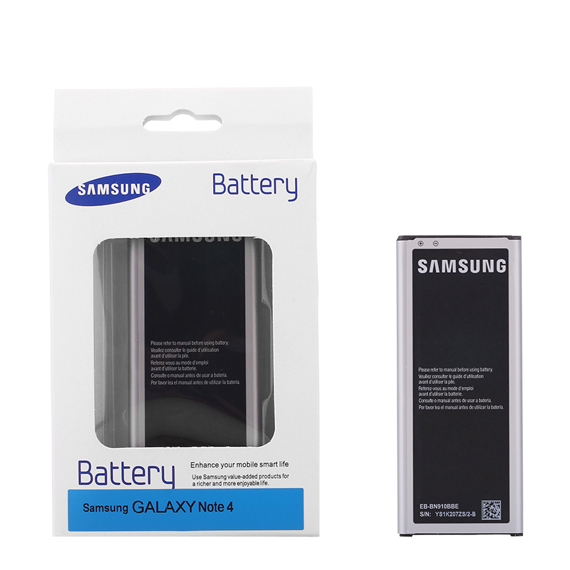 SAMSUNG Original Replacement Battery For Samsung GALAXY N910F N910V N910C NOTE 4 NOTE4 N910a N910u 3220mAh N910H EB-BN910BBE