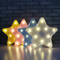 Rounded Star Shaped Fairy Nightlight ABS Plastic Led Table Desk Lamp Room Atmosphere Wedding Decoration Creative