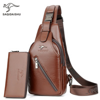 SAQIDAISHU 2017 New Men S Chest Oxford Cloth Crossbody Bags For Men Messenger Chest Bag Casual