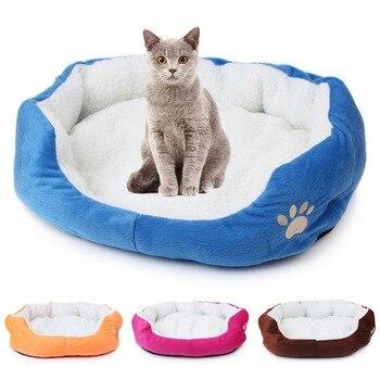 Doux chat lit tapis hiver maison pour chat chaud coton chien Pet Mat produits Mini chiot Pet chien lit doux confortable 50x40/60x50 cm