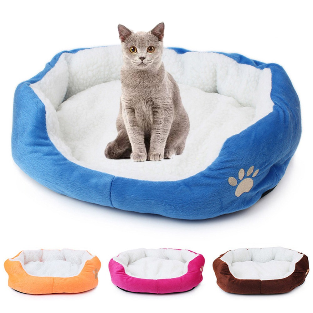 Soft Cat Bed Mat Winter House For Cat Warm Cotton Dog Pet Mat Products Mini Puppy Pet Dog Bed Soft Comfortable 50x40/60x50cm #1