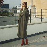 New Vintage Cocoon Style Winter Woolen Coat Women X Long Plus Cotton Thicken Maxi Wool Coats Overcoat Parkas Manteau Femme C3593