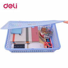 Deli 2019 1pcs 924 file basket A4 Thickening of plastic storage rectangular desktop box
